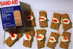 Halloween Berry Band-Aid Treat