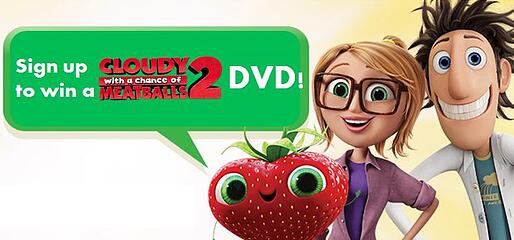 Cloudy with a Chance of Meatballs 2 DVD Giveaway!
