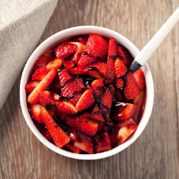 Simply Spring: Balsamic Strawberries & Cream