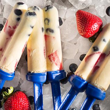 Red, White & Blueberry Ice Cream Recipes
