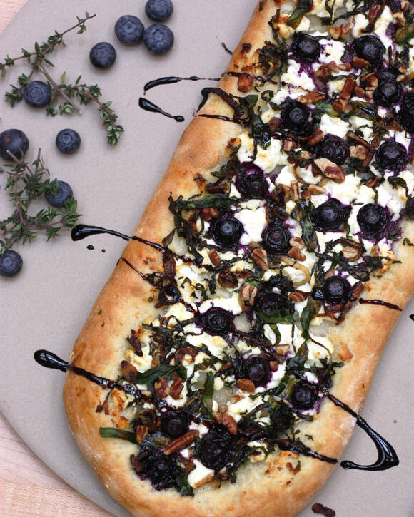 blueberry goat cheese pizza - California Giant Berry Farms