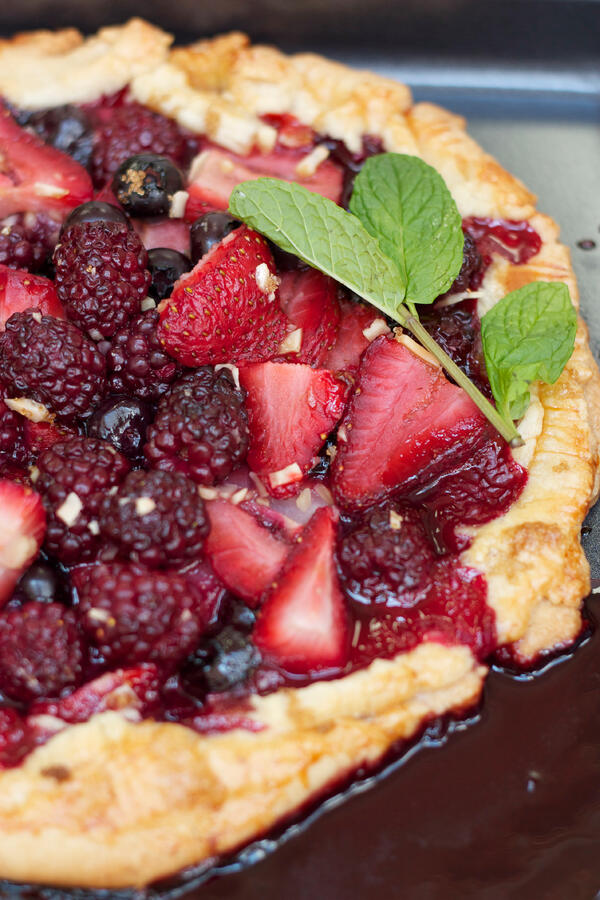 Mixed-Berry--Almond-Rustic-Tart-with-Fresh-Whipped-Cream-2