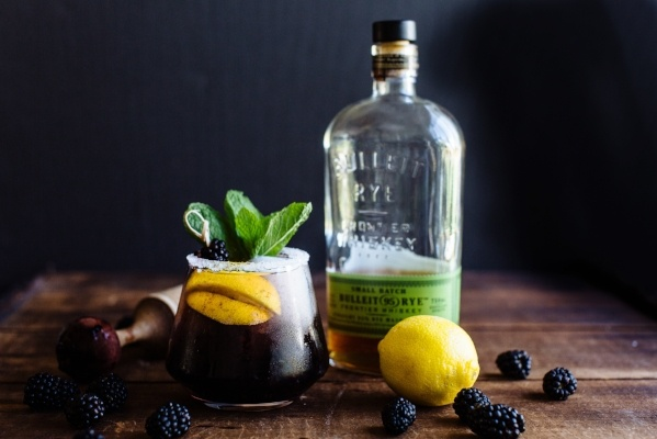 Apple Bourbon Blackberry Sour