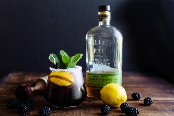 Apple Bourbon Blackberry Sour
