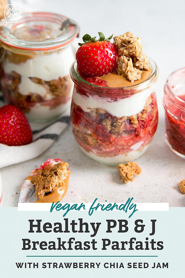Peanut-Butter-Granola-with-Strawberry-Chia-Seed-Jam-Breakfast-Parfaits