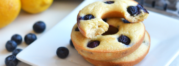 Paleo Blueberry Lemon Donuts