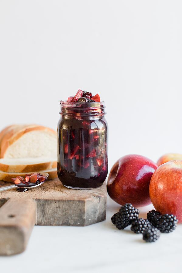 apple blackberry jam-3