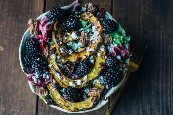 Blackberry Squash Salad