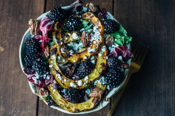 Blackberry Squash Salad