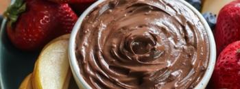 chocolate avocado fruit dip