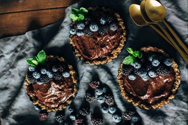 dark chocolate blackberry tart-4