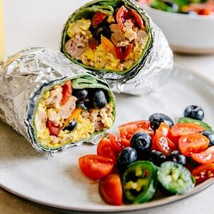 grab n go breakfast wrap