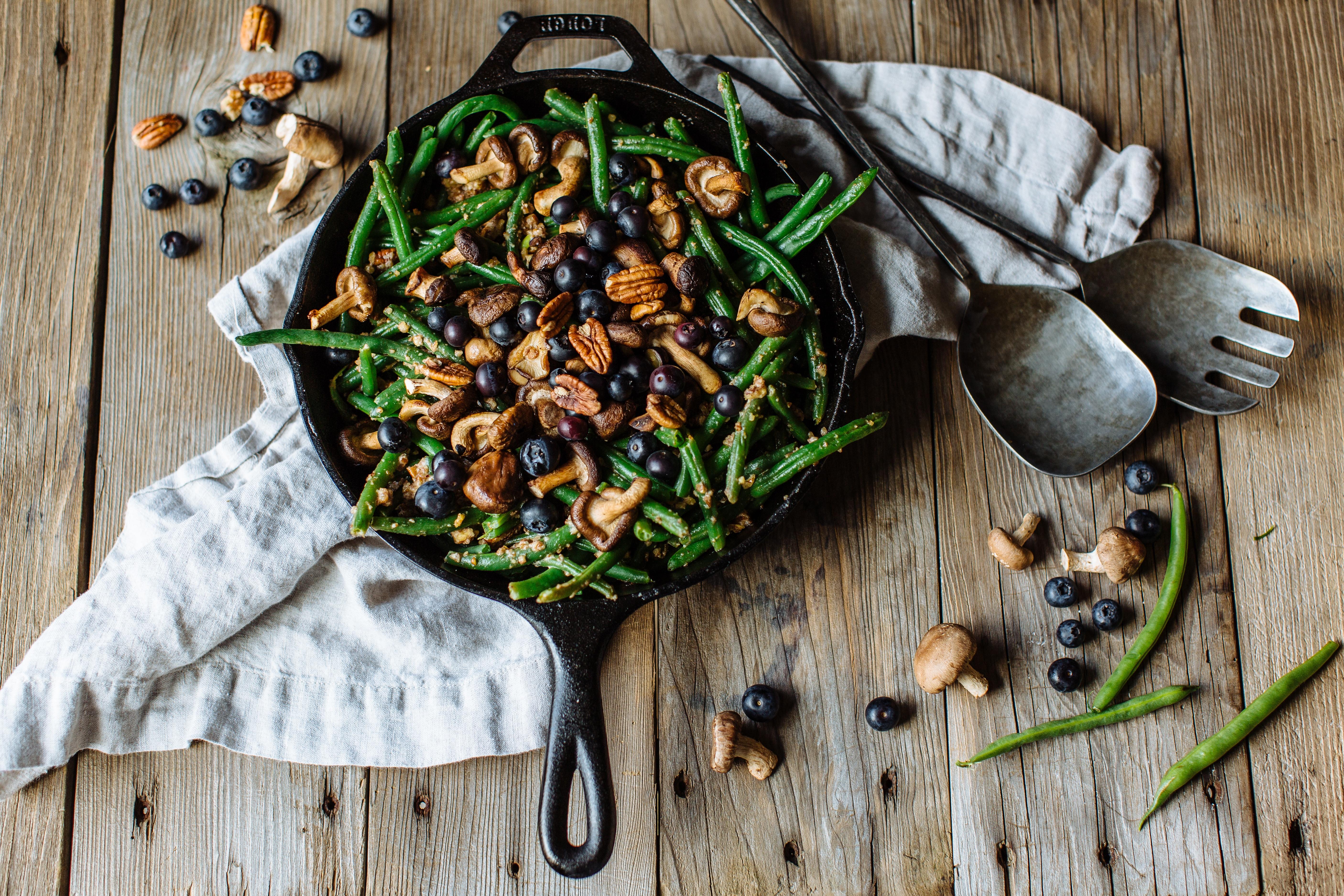 Shiitake Mushroom and Green Bean Casserole