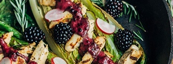 romaine and blackberry salad