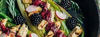 romaine and blackberry salad