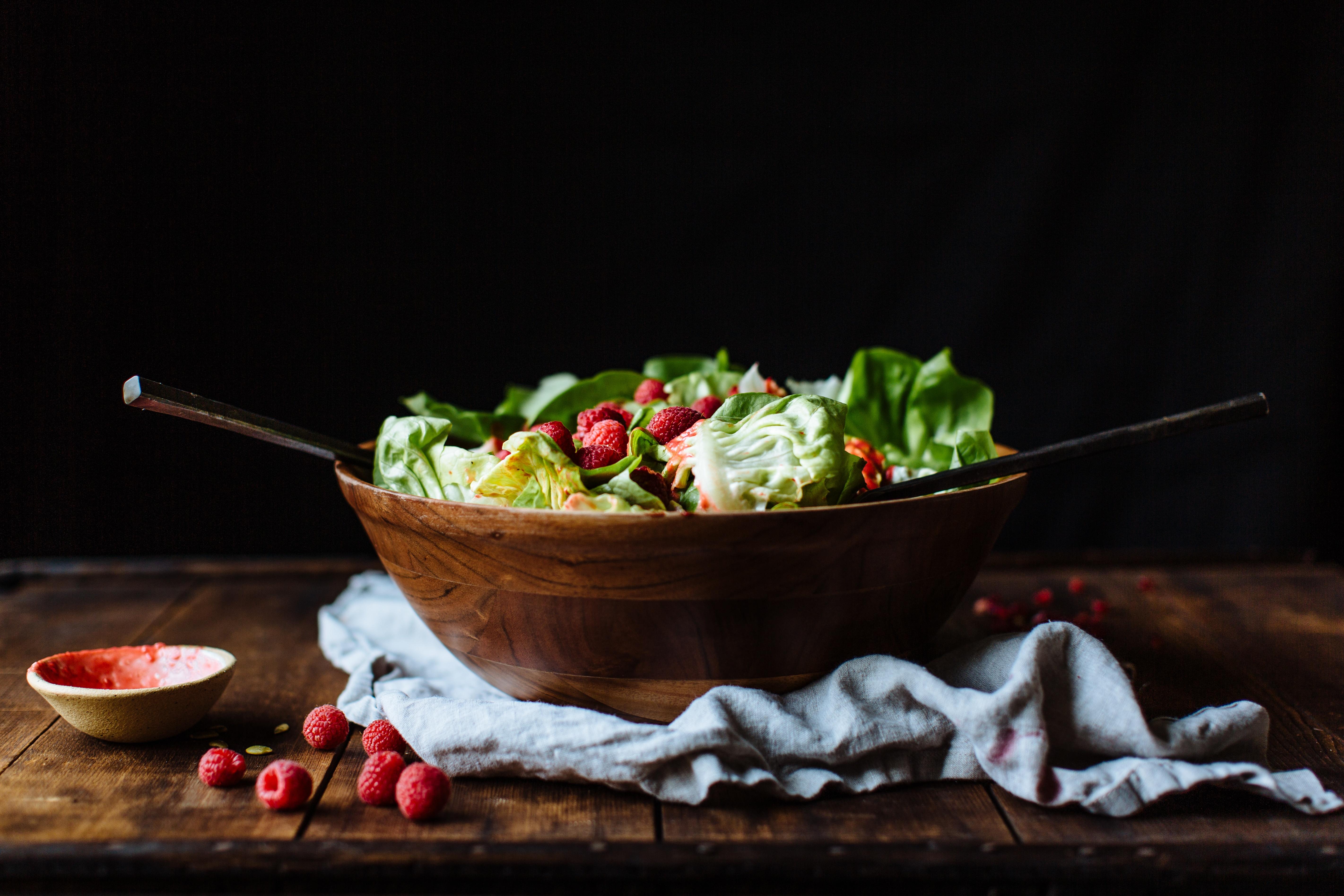 pomegranate & raspberry salad-14