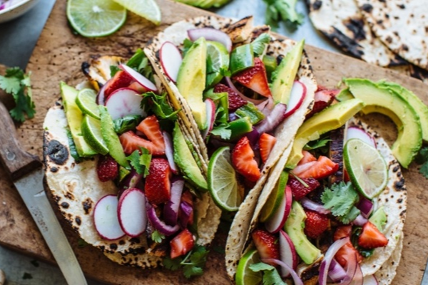 Tacos with Strawberry Salsa