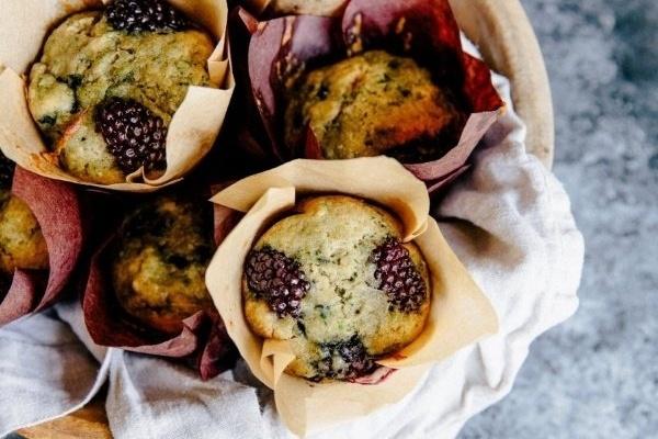 Zucchini & Blackberry Muffins