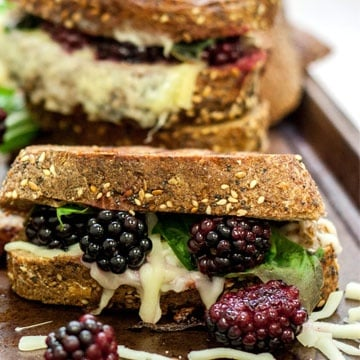 Blackberry Grilled Cheese Sandwiches