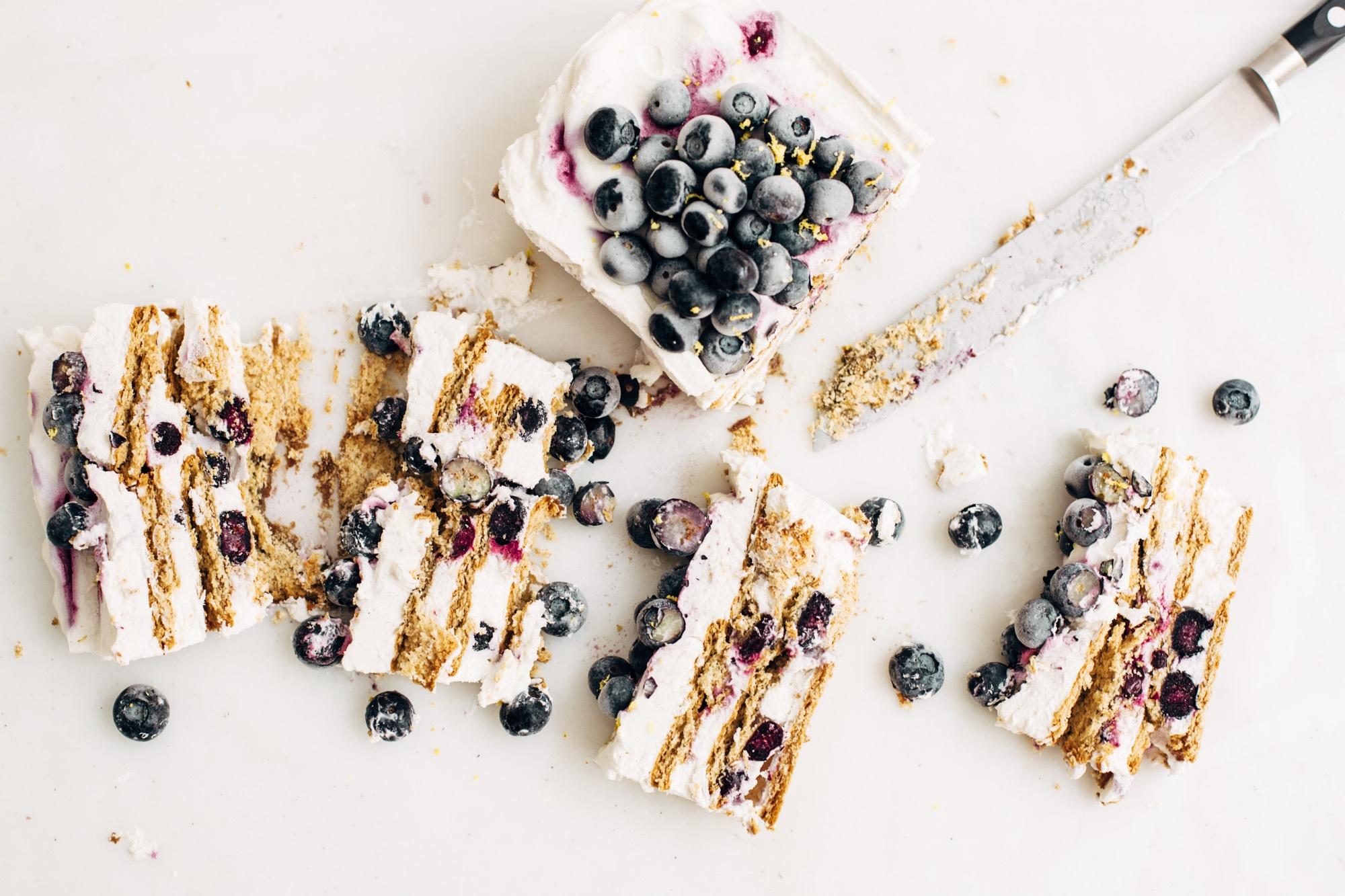 Easy Blueberry Ice Box Cake