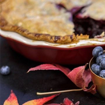 Fresh and Easy Blueberry Pie with Homemade Espresso Whipped Cream