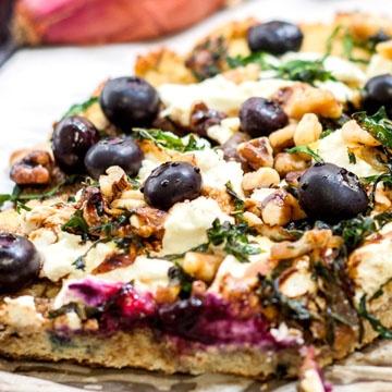Gluten Free Blueberry Pizza