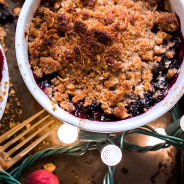 Individual Berry Crumbles for Your Holiday Guests