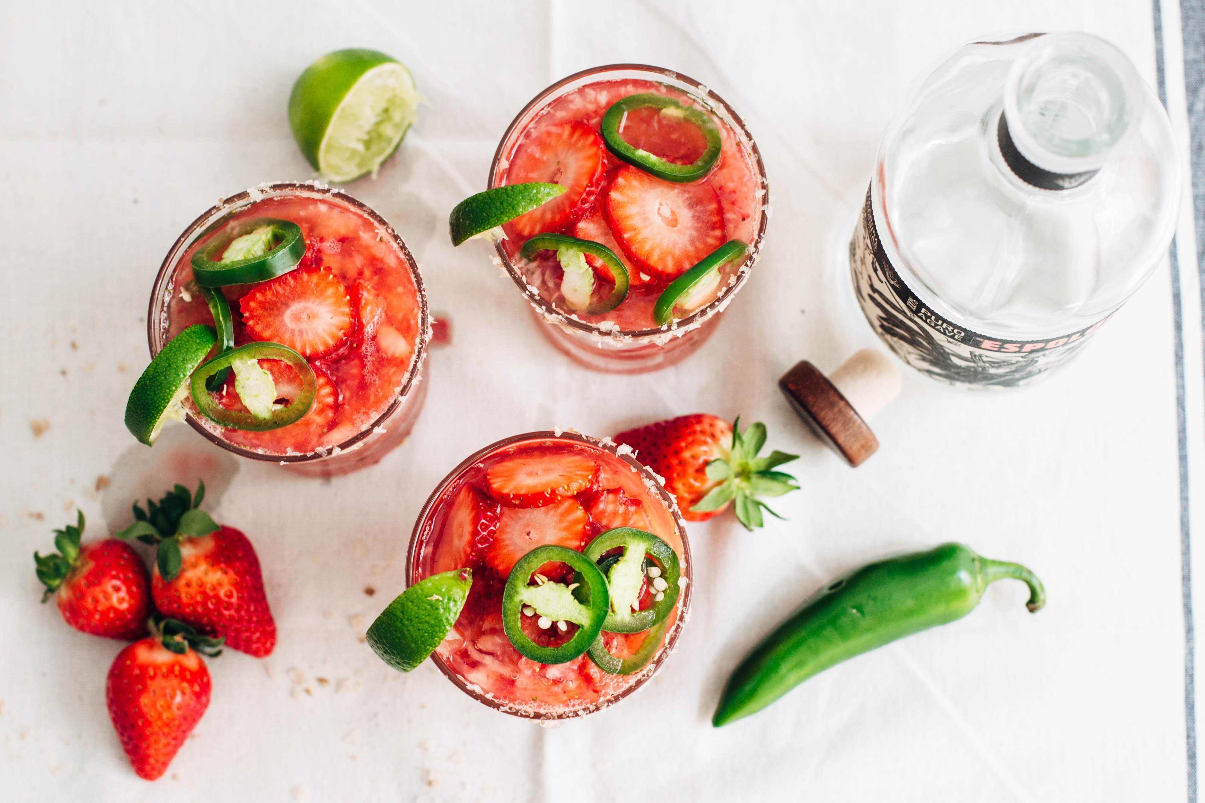 Strawberry Jalapeno Margaritas