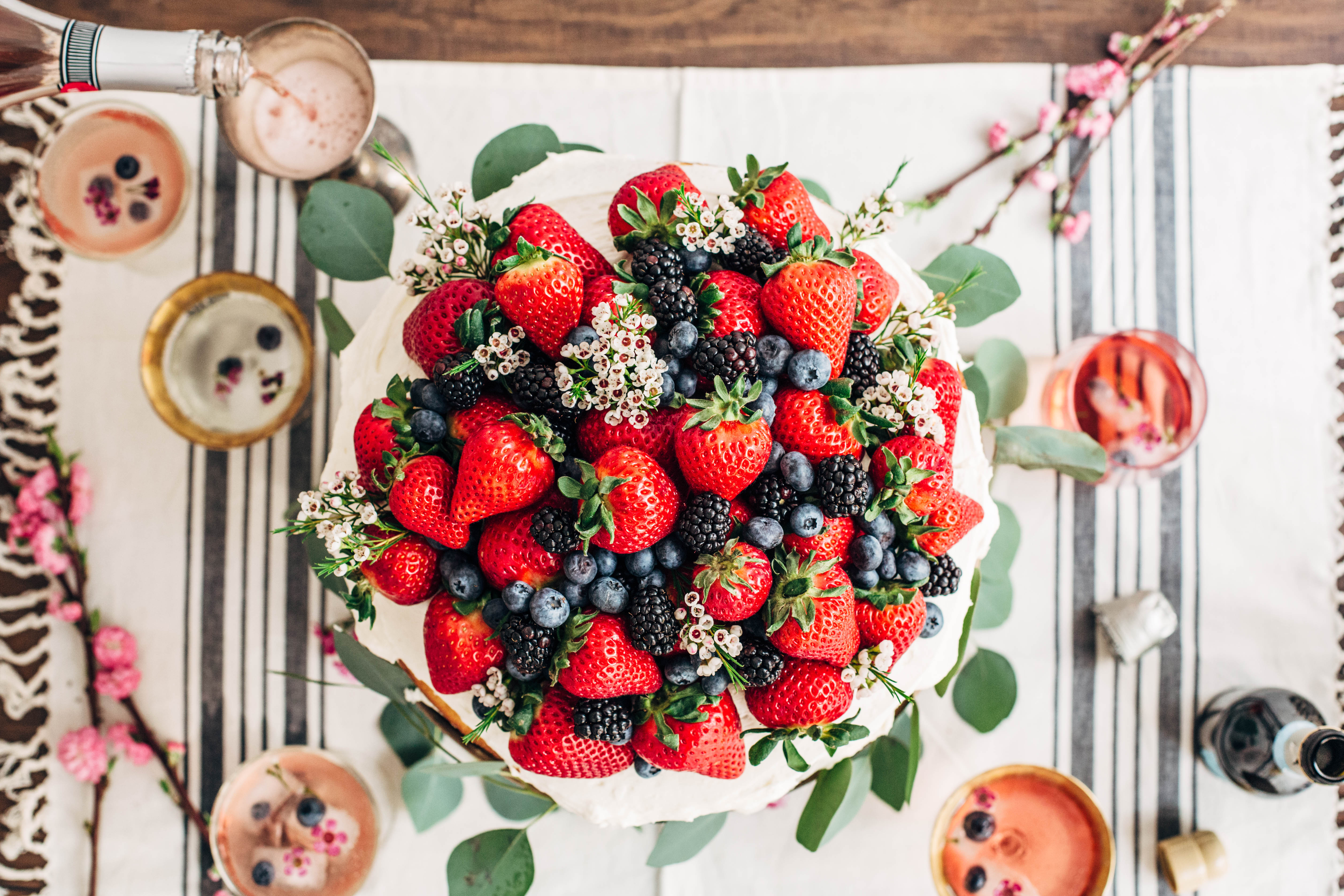 Berry Inspired Summer Wedding Cake