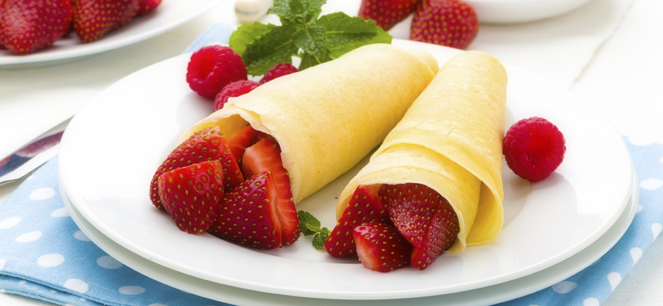 Bastille Day Strawberry Crepes