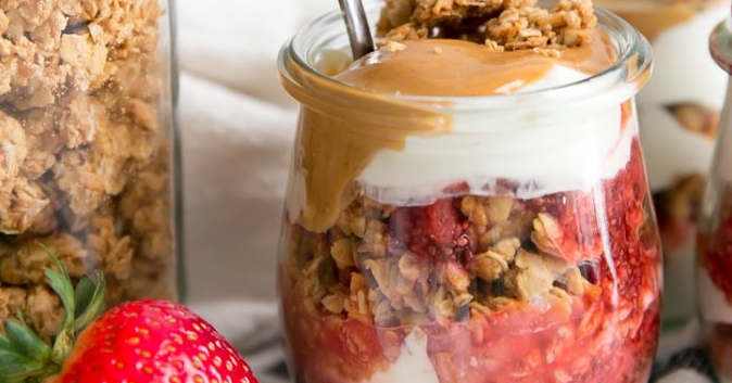 Vegan Peanut Butter & Jelly Breakfast Parfaits Recipe