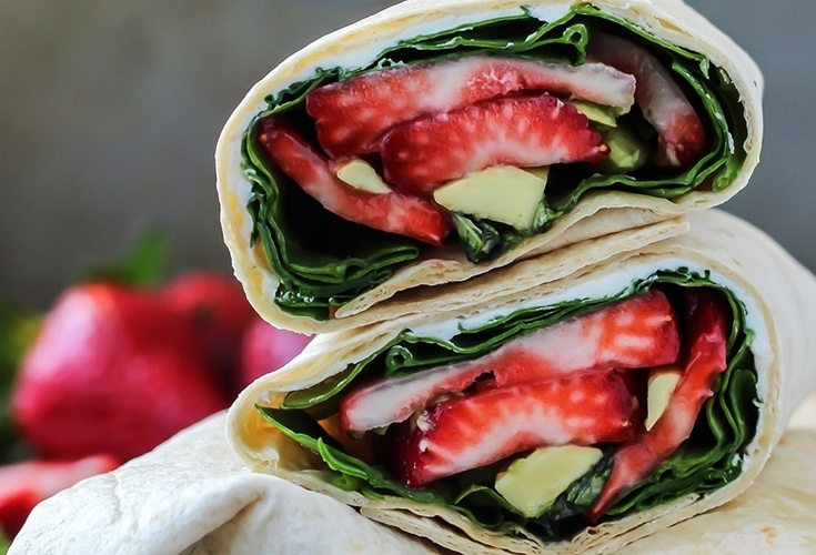 Strawberry Basil Avocado Wrap