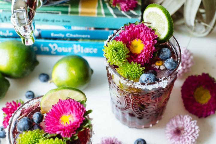 BlueberryRosé & Tequila Punch