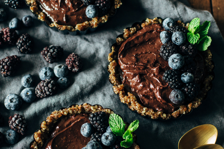 Dark Chocolate Blackberry Tart