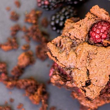 Paleo Blackberry Brownies