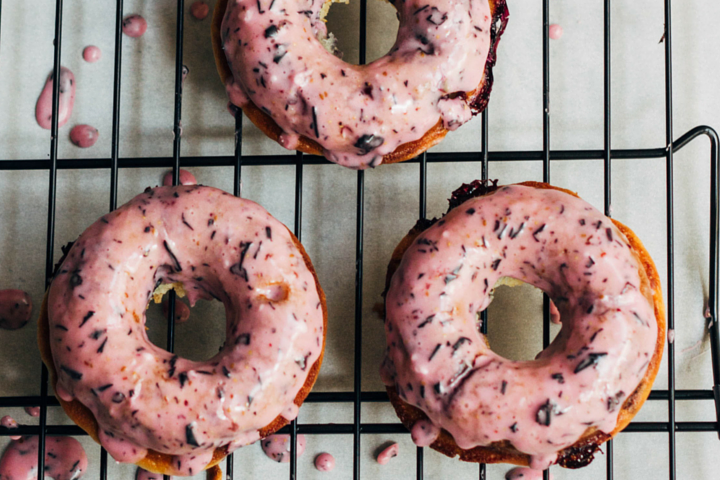 Gluten Free and Vegan Blueberry Baked Donuts