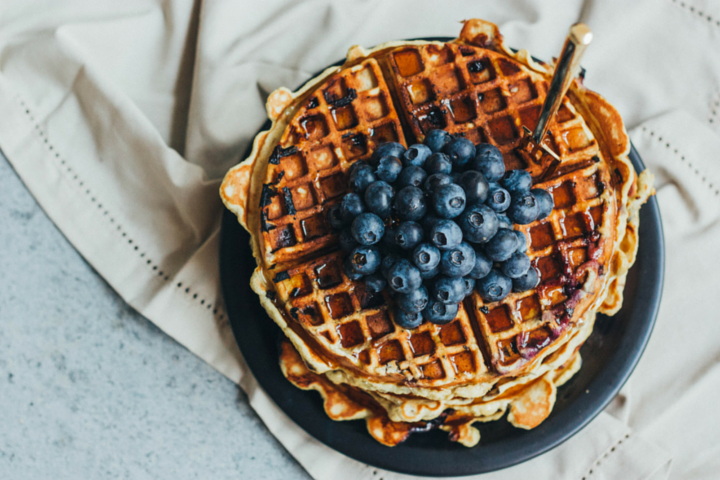Healthy Blueberry Waffles for Busy Mornings