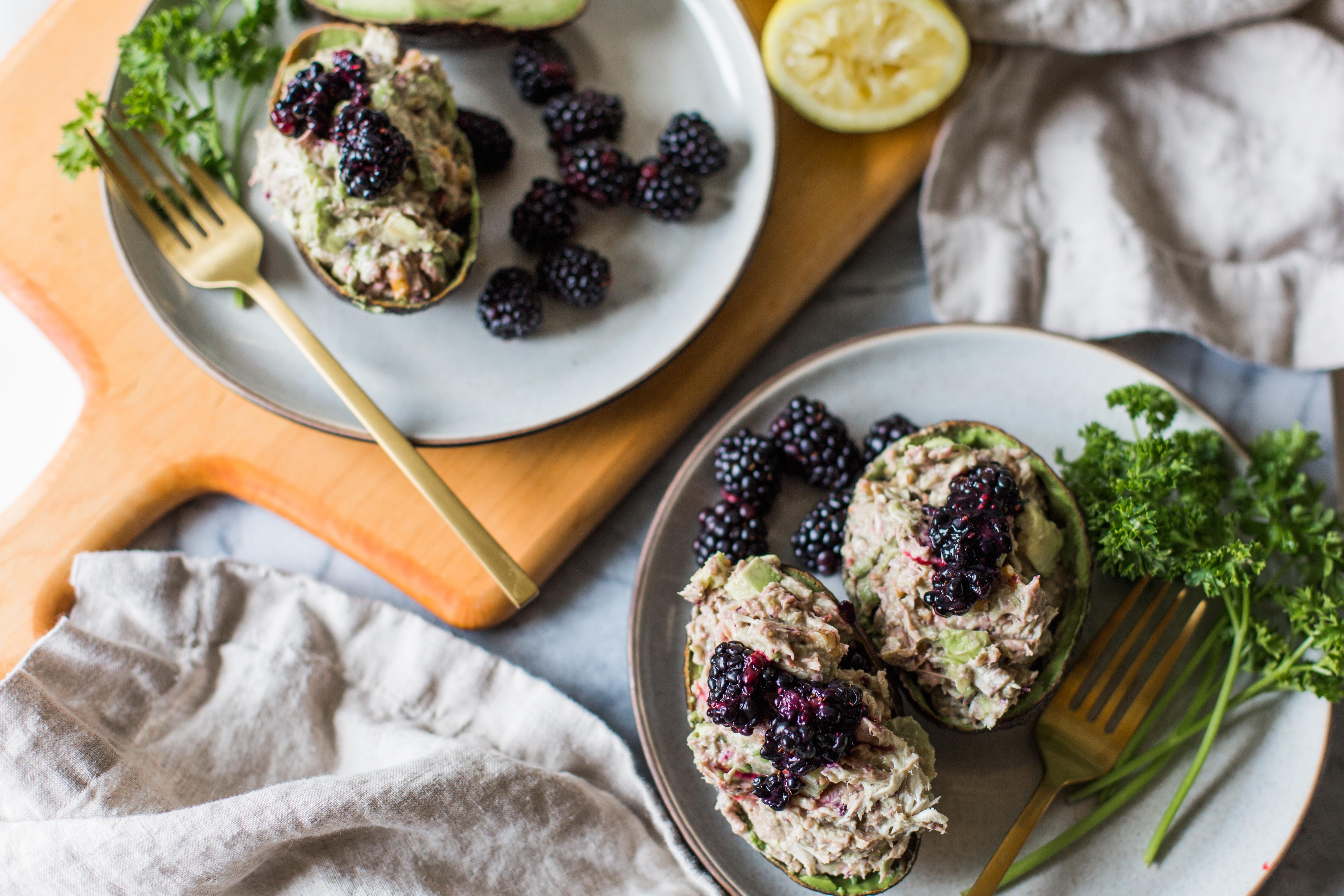 Blackberry Avocado Chicken Salad