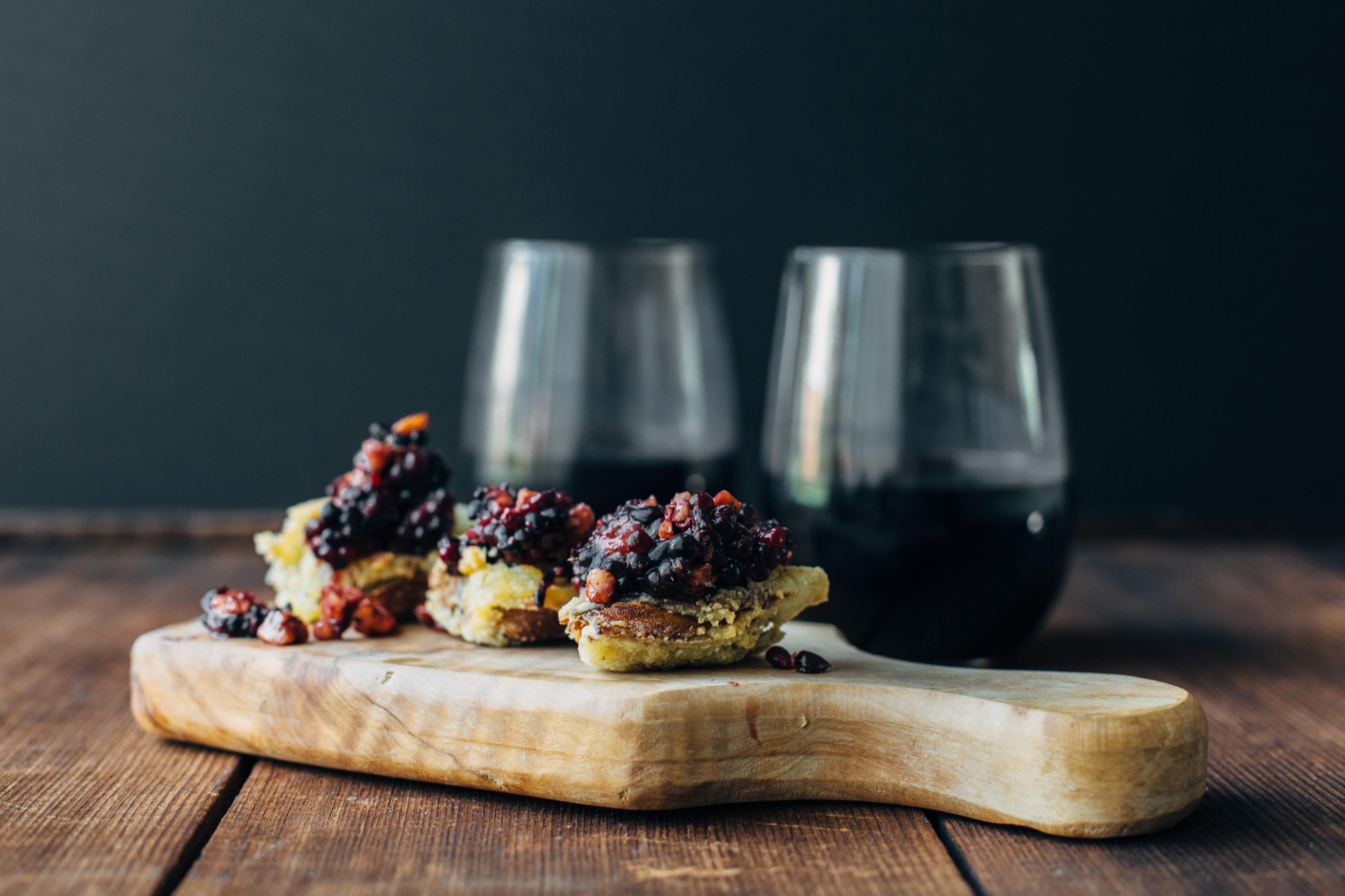 Crispy Artichokes + Blackberry Pesto