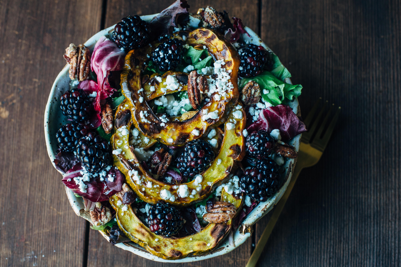 Blackberry & Acorn Squash Salad