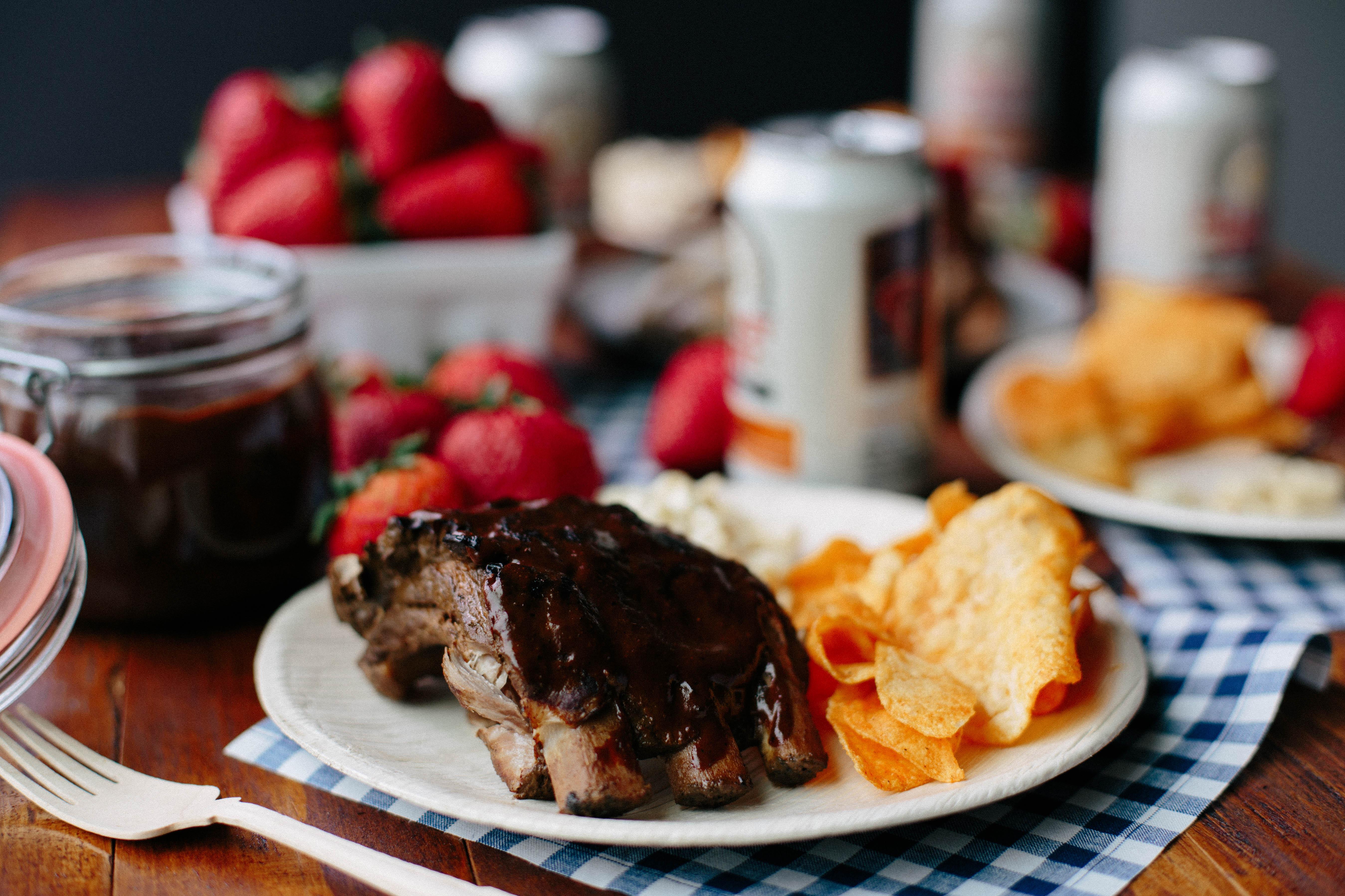 Strawberry Ancho BBQ Ribs