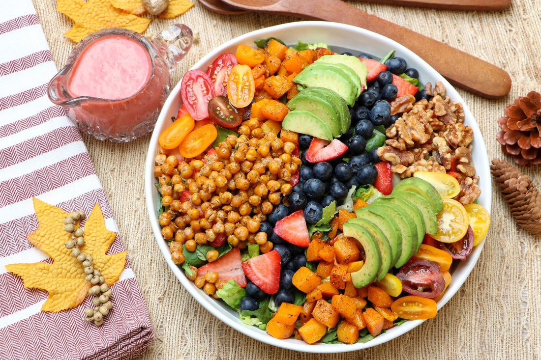 Berry Harvest Salad with Strawberry Vinaigrette