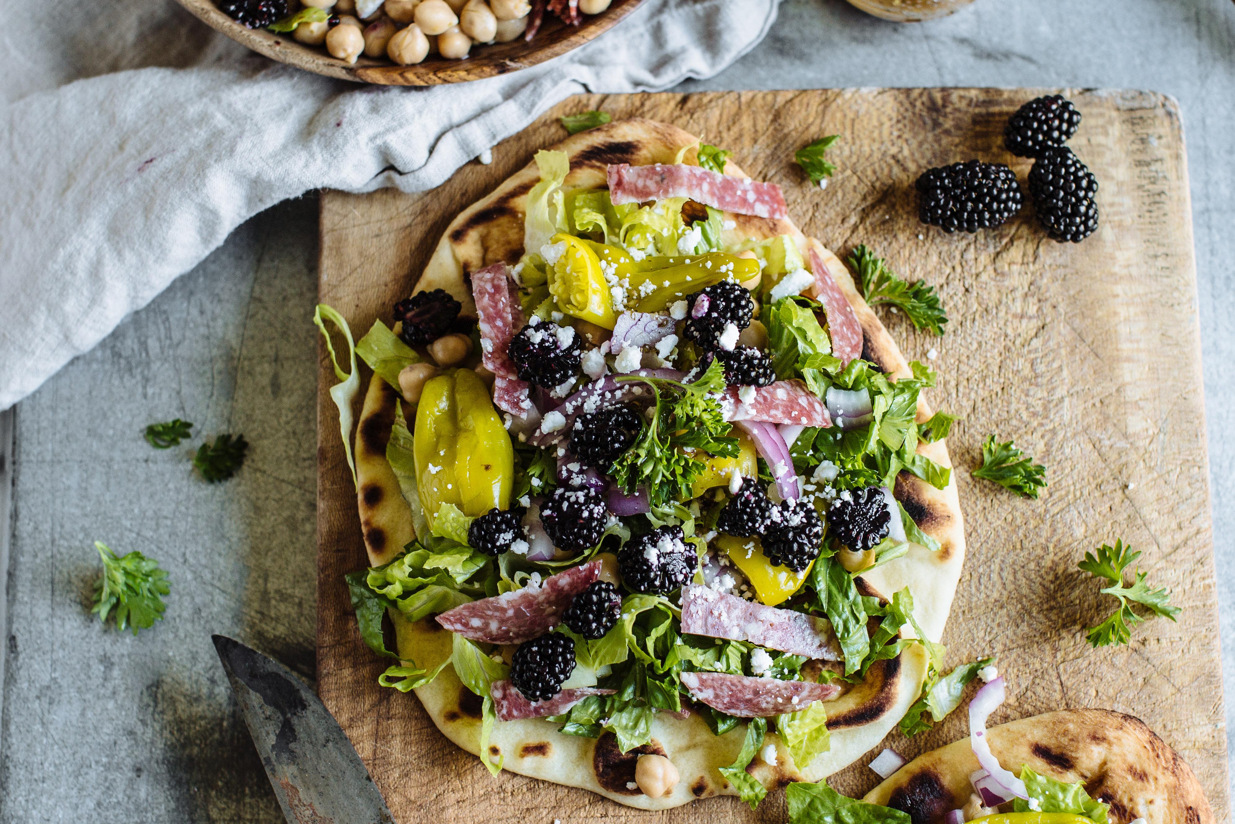 Blackberry Chopped Salad Pizza