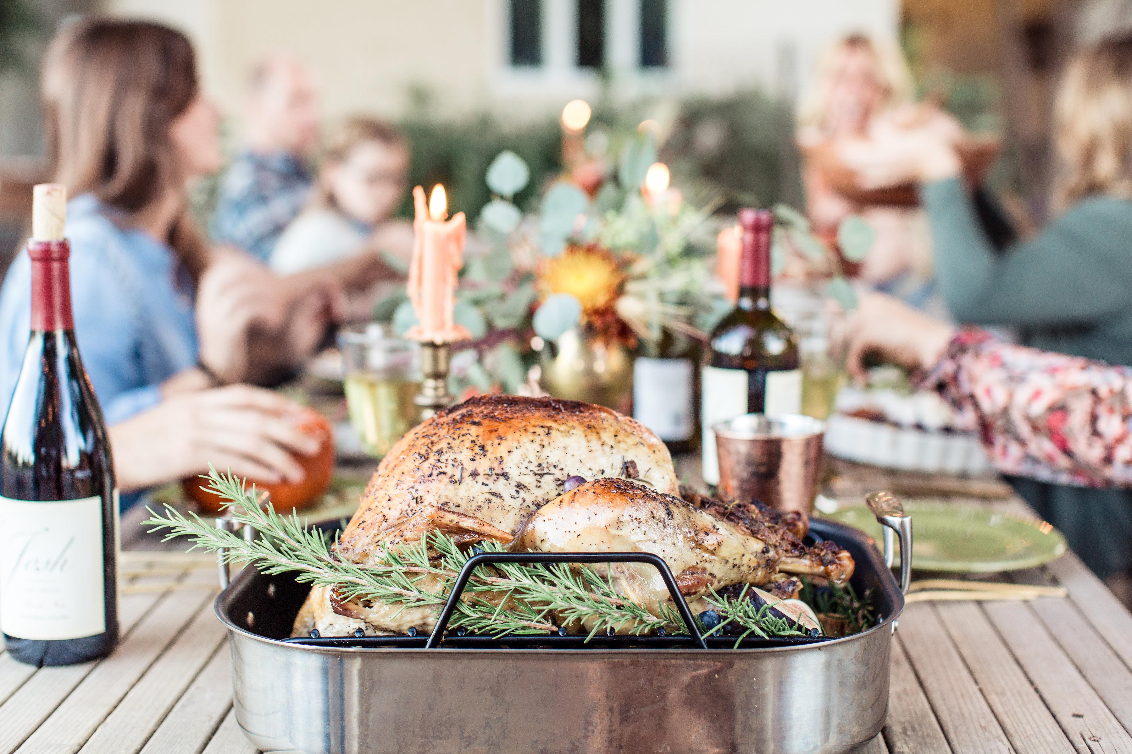 Roast Turkey with Blueberry Balsamic Glaze