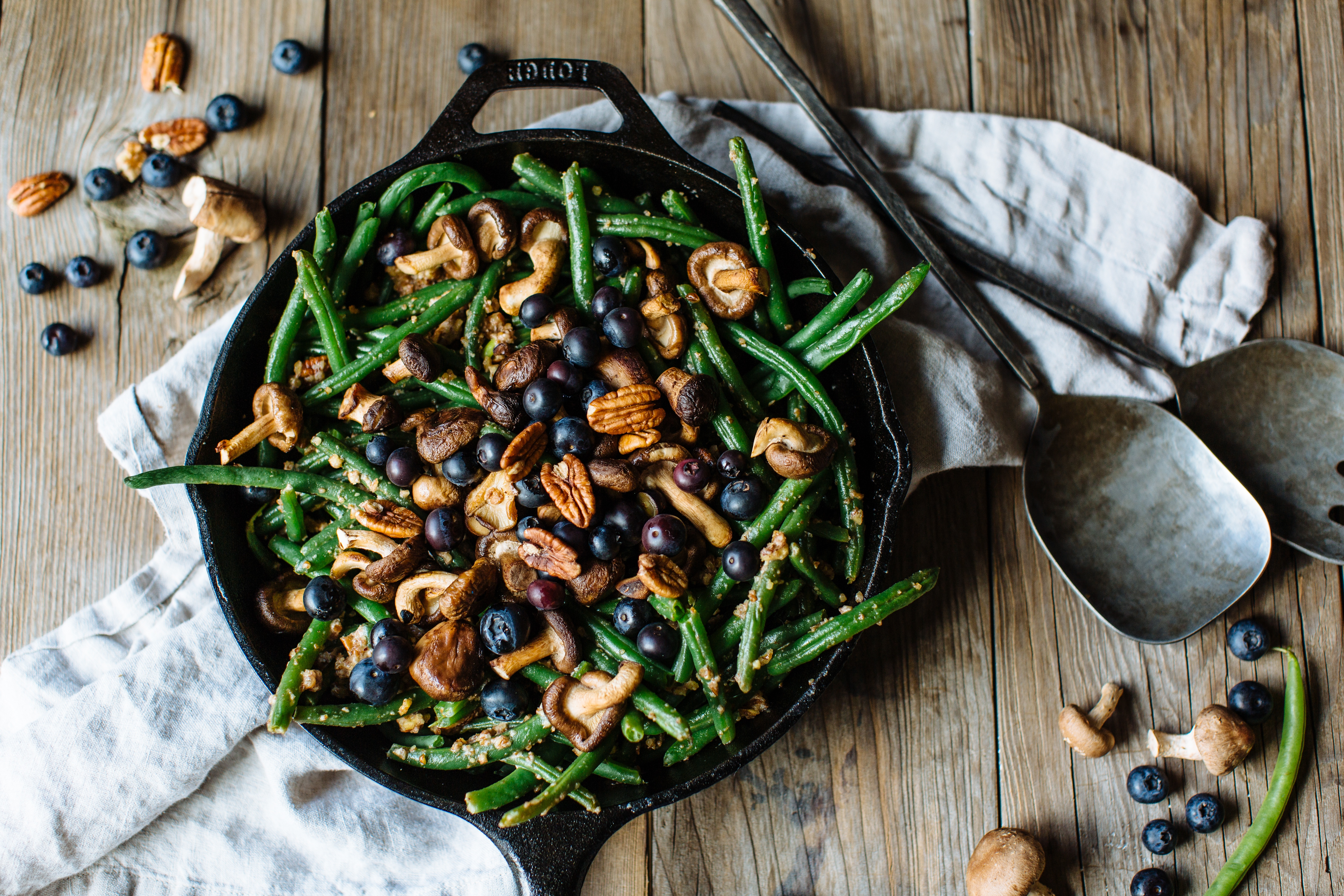 Shiitake & Blueberry Green Beans