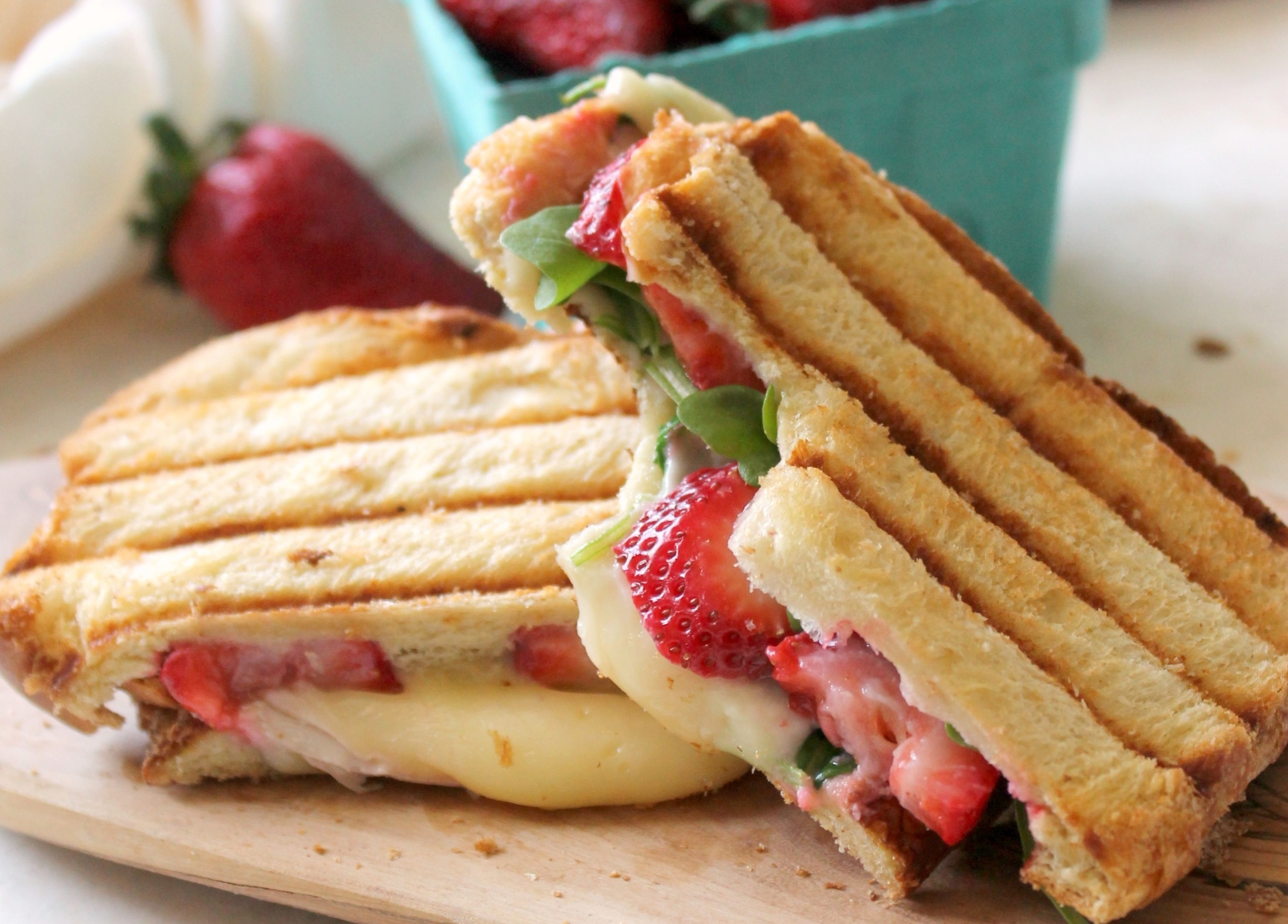 Strawberry, Brie & Arugula Panini