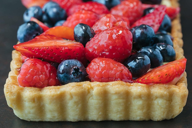 Lemon Cream Mixed Berry Tart