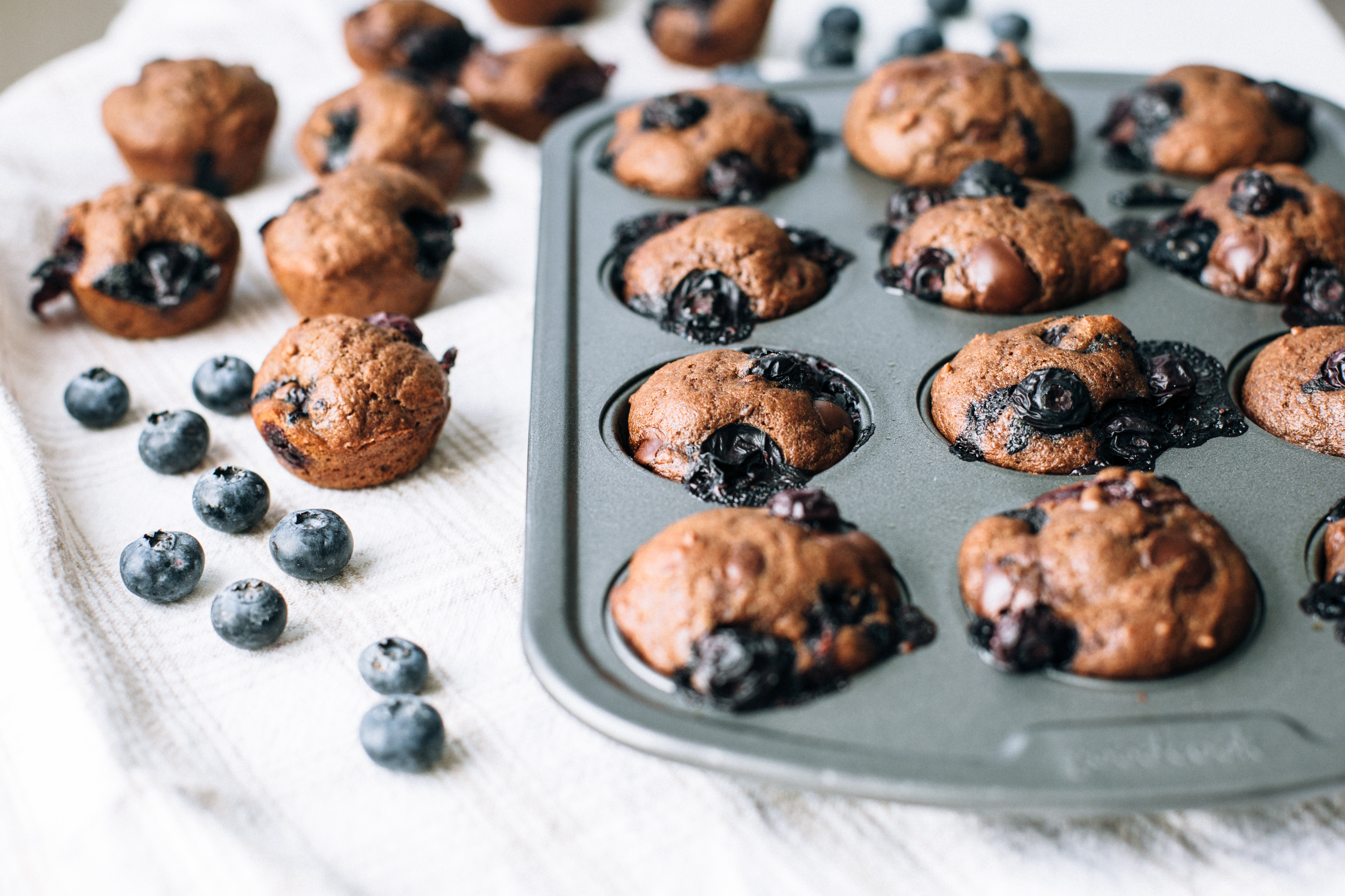 Back to School Blueberry Mini Muffins