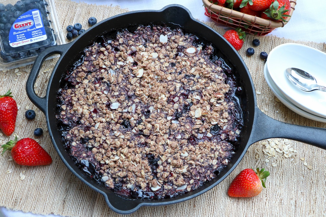 Maple Berry Skillet Crumble