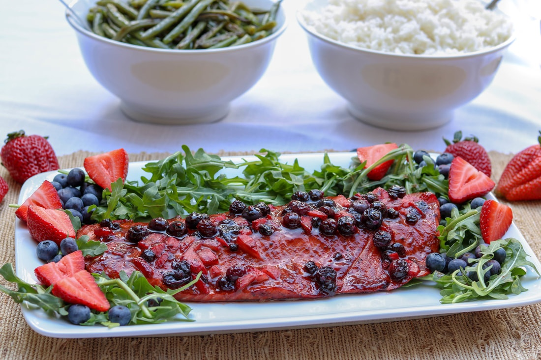 Berry BBQ Salmon